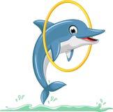 Cute Dolphin Cartoon Jumping Stock Image