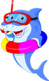 Cute dolphin cartoon Royalty Free Stock Photos