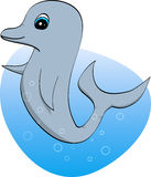 Cute dolphin baby with blue eyes illustration Royalty Free Stock Photo