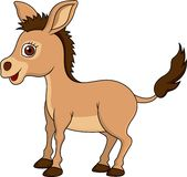Cute donkey cartoon Royalty Free Stock Photos