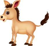 Cute donkey cartoon Stock Image