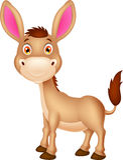 Cute donkey cartoon royalty free illustration