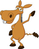 Cute donkey cartoon waving Royalty Free Stock Images