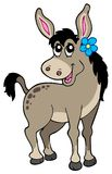 Cute donkey with flower royalty free illustration
