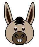 Cute Donkey Vector. Cute animal faces in  (One of 25 of them Royalty Free Stock Photos