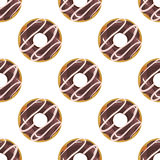 Cute donuts with colorful glazing seamless pattern . Royalty Free Stock Photo