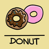 Cute donuts hand-drawn style, vector illustration. Cute donuts hand-drawn style,drawing,hand drawn vector illustration Royalty Free Stock Photo