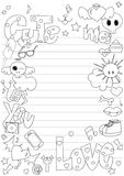 Cute doodle Stock Photography