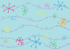 Cute doodle background Stock Photos