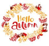 Cute doodle background with autumn colorful leaves, birds, rowa. Fall season vector seamless pattern. Cute doodle background with autumn colorful leaves, birds vector illustration