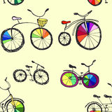 Cute doodle bicycles Royalty Free Stock Photo