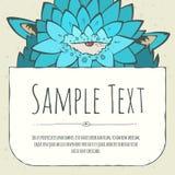 Cute doodle cartoon monster invitation Stock Image