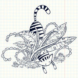 Cute doodle cat Royalty Free Stock Photography