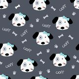 Cute doodle dogs seamless pattern Royalty Free Stock Image