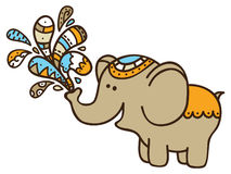 Cute doodle elephant. Stock Photography