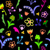 Cute doodle floral seamless pattern Royalty Free Stock Photo