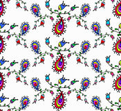 Cute doodle floral seamless pattern Stock Photo