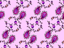 Cute doodle floral seamless pattern Stock Image