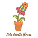Cute doodle flower Royalty Free Stock Photos