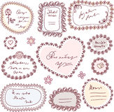 Cute doodle frame set Royalty Free Stock Photo