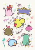 Cute doodle frames. For your text Royalty Free Stock Photo