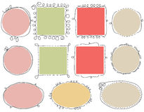 Cute doodle frames Royalty Free Stock Image