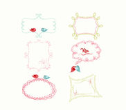 Cute doodle frames Royalty Free Stock Images