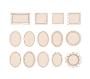 Cute doodle frames Royalty Free Stock Photography