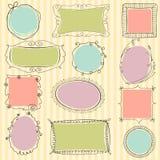 Cute doodle frames Stock Image