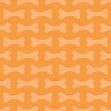 Cute doodle halloween seamless pattern background with bones Stock Image