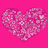 Cute Doodle Heart Vector Illustration Stock Photo