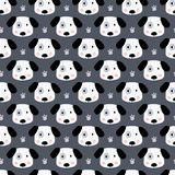 Cute dogs seamless pattern Royalty Free Stock Image