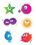 Cute doodle monsters. Set on white Royalty Free Stock Photography