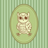 Cute doodle owl Royalty Free Stock Image