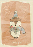 Cute doodle owl Royalty Free Stock Photo