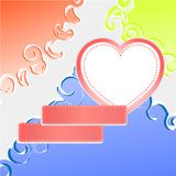Cute doodle romantic abstract heart background Stock Photography