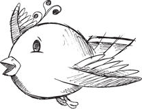 Cute Doodle Sketch Bird Vector Royalty Free Stock Photography