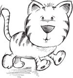 Cute Doodle Sketch Cat Vector Stock Photo