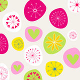 Cute doodle spring background illustration Royalty Free Stock Photography