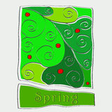 Cute doodle spring background illustration Royalty Free Stock Photo