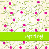 Cute doodle spring background illustration Stock Images