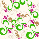 Cute doodle spring background illustration Stock Image