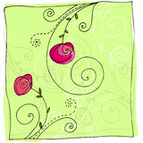Cute doodle summer background Royalty Free Stock Photography