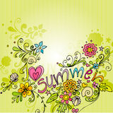 Cute doodle summer background Stock Images