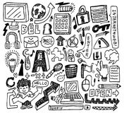 Cute doodle web Royalty Free Stock Image