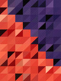 Cute dot texture on red and purple rectangles background Stock Images