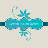 Cute dotted floral background Royalty Free Stock Images