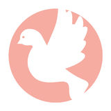 Cute dove flying icon Royalty Free Stock Image