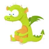 Cute Dragon. Cute Green Dragon. Cartoon Character Royalty Free Stock Photos