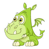 Cute dragon baby Stock Image